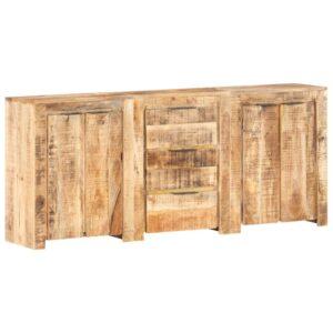 Aparador com 3 gavetas e 4 portas madeira de mangueira maciça - PORTES GRÁTIS