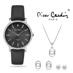 Conjunto Pierre Cardin® PCDX8383L22 | Relógio | Colar | 2 Pares de Brincos