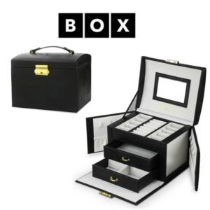 Caixa de Arrumação para Jóias | Com 2 Gavetas | Acabamento Premium | PD102CZ