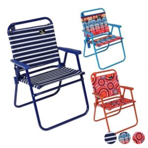 Cadeira de Campismo Acolchoada Aço Oxford (57 X 57 x 79 cm)