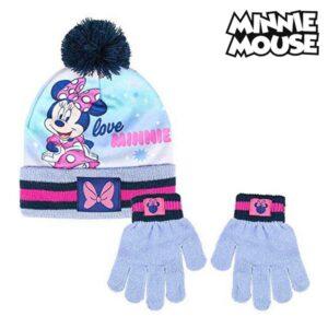 Gorro e Luvas Minnie Mouse Lilás