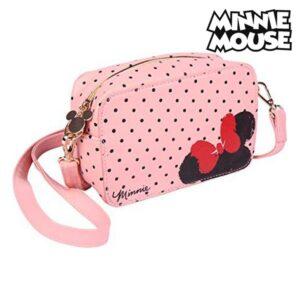 Mala a Tiracolo Minnie Mouse (19 x 12,1 x 6,5 cm) Cor de Rosa