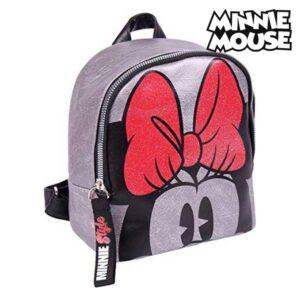 Mochila Casual Minnie Mouse (18 x 21 x 10 cm) Prateado