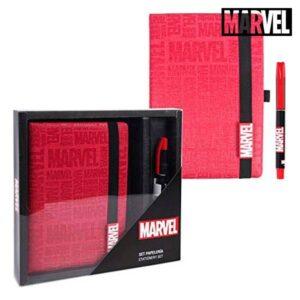 Set de Papelaria Marvel Vermelho (2 pcs)