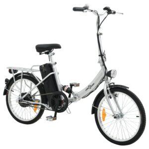 Bicicleta elétrica dobrável bateria iões lítio liga de alumínio  - PORTES GRÁTIS
