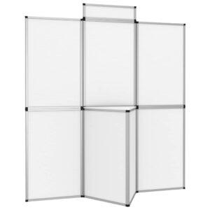 Expositor dobrável com 8 painéis e mesa 181x200 cm branco - PORTES GRÁTIS