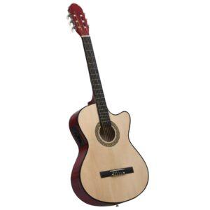 Guitarra acústica cutaway com equalizador e 6 cordas     - PORTES GRÁTIS