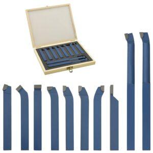 11 pcs conjunto de ferramentas de torneamento 10x10 mm P30 - PORTES GRÁTIS