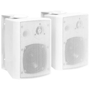Colunas de som para parede interior/exterior 2 pcs 80 W branco - PORTES GRÁTIS