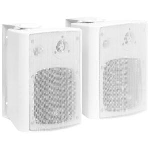 Colunas de som para parede interior/exterior 2 pcs 100 W branco - PORTES GRÁTIS