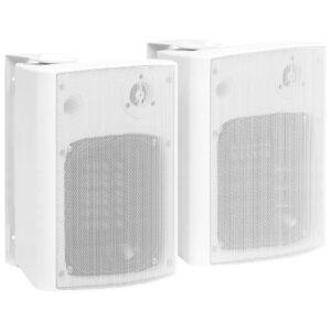 Colunas de som para parede interior/exterior 2 pcs 120 W branco - PORTES GRÁTIS