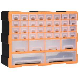 Caixa organizadora com 40 gavetas 52x16x37,5 cm - PORTES GRÁTIS