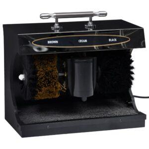 Máquina engraxar calçado elétrica totalmente automática preta - PORTES GRÁTIS