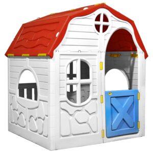 Casa de brincar infantil dobrável com porta e janelas de abrir - PORTES GRÁTIS