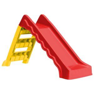 Escorrega dobrável infantil interior/exterior vermelho/amarelo - PORTES GRÁTIS