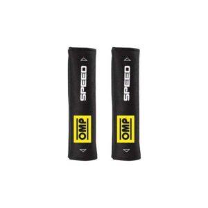 2 Almofadas de Cinto de Segurança OMP Speed 1028 Preta