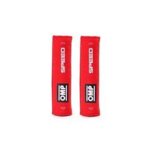 2 Almofadas de Cinto de Segurança OMP Speed 1029 Vermelha