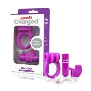Estimulador com Carga CombO Kit #1 Púrpura The Screaming O 12693