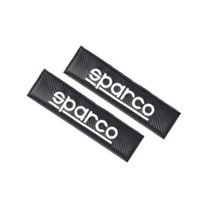 2 Almofadas de Cinto de Segurança Sparco Carbono 1206CB Carbono