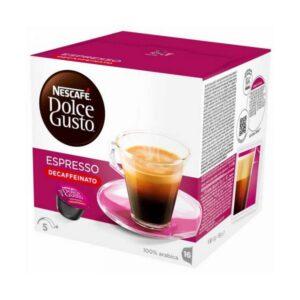 16 Cápsulas de café Nescafé Dolce Gusto 60658 Espresso Decaffeinato