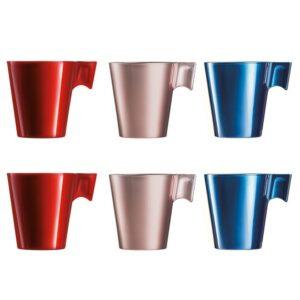 3 Conjuntos de Chávenas de Café Luminarc Flashy  22 cl