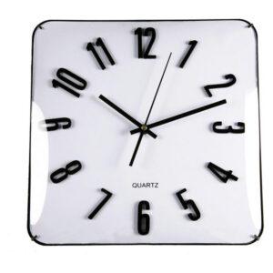 Relógio de Parede Cristal (31 x 5,5 x 31 cm) Branco