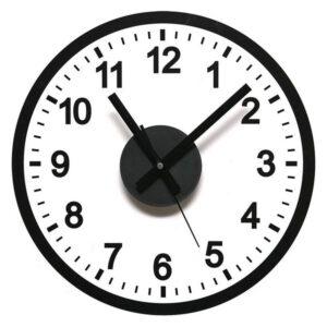 Relógio de Parede Autocolante Preto