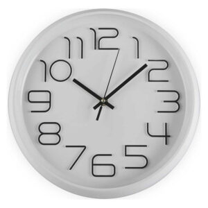 Relógio de Parede Plástico (4,5 x 30 x 30 cm)