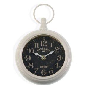 Relógio de Parede White Metal (5,5 x 23 x 13 cm)