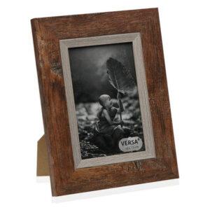 Porta-retratos Madeira MDF Castanho 13 x 18 cm