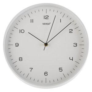 Relógio de Parede Plástico (4,5 x 31,5 x 31,5 cm) Branco