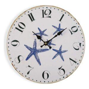 Relógio de Parede Blue Sea Metal (4 x 29 x 29 cm)