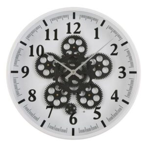 Relógio de Parede Metal Madeira MDF/Cristal (6,5 x 36 x 36 cm)