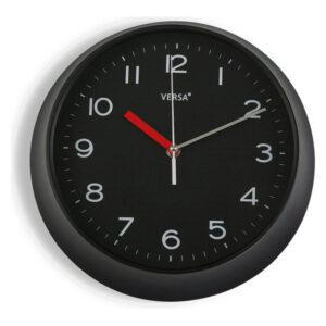 Relógio de Parede Plástico (6,6 x 29,3 x 29,3 cm) Preto