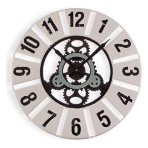 Relógio de Parede Metal Madeira MDF (60 x 4,5 x 60 cm)