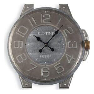 Relógio de Parede Metal Madeira MDF (60 x 4,5 x 58 cm)