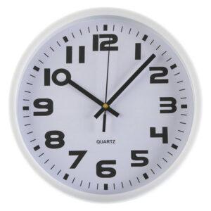 Relógio de Parede Plástico (3,8 x 25 x 25 cm) Branco