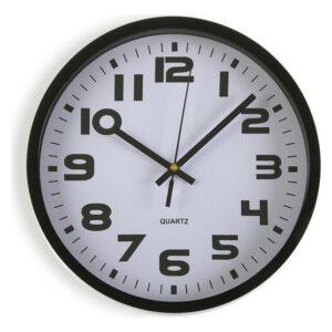 Relógio de Parede Plástico (3,8 x 25 x 25 cm) Preto