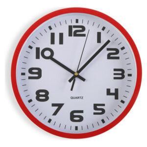 Relógio de Parede Plástico (3,8 x 25 x 25 cm) Vermelho