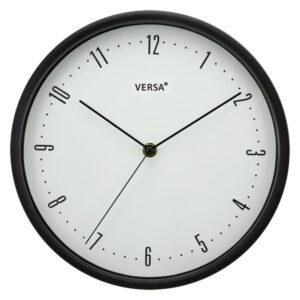 Relógio de Parede Plástico (4,5 x 25 x 25 cm) Preto
