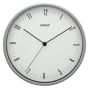 Relógio de Parede Plástico (4,5 x 25 x 25 cm) Cinzento