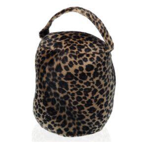 Fixador de portas Leopardo Têxtil (15 x 18 x 15 cm)