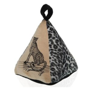 Fixador de portas Leopardo Têxtil (14 x 19 x 16 cm)