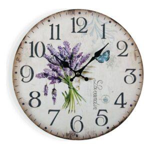 Relógio de Parede Lavender Madeira (4 x 30 x 30 cm)
