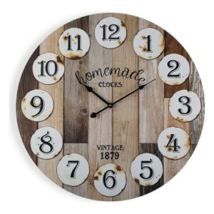 Relógio de Parede Homemade Madeira (3 x 58 x 58 cm)