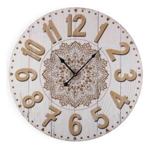 Relógio de Parede Branco Madeira (3 x 58 x 58 cm)