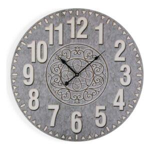 Relógio de Parede Cinzento Madeira (3 x 58 x 58 cm)