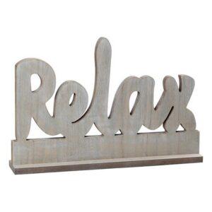 Letreiro de Madeira Relax 112024