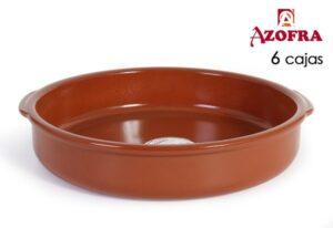 Tacho Azofra Barro cozido Castanho 26 cm