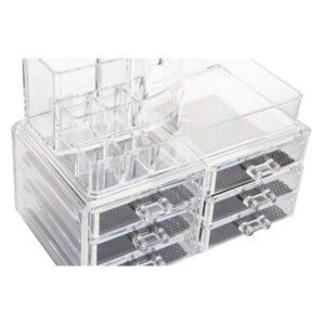 Organizador de maquilhagem Dekodonia Transparente Acrílico (24 x 15 x 18 cm)